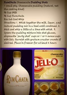 Rumchata cheesecake jello shots