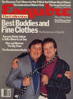 "#MagLove 15 August 2014: ""Remembering Robin Williams"". Esquire, 1984: Robin Williams."
