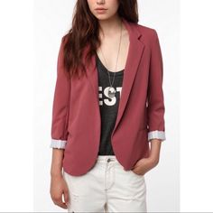 Urban Outfitters Silence & Noise Maroon Blazer