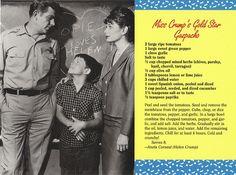 Mayberry Miss Crump's Gold Star Gazpacho Recipe Postcard