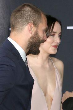 Jamie Dornan and Dakota Johnson at the Fifty Shades Darker Premiere at LA (Feb 02, 2017)
