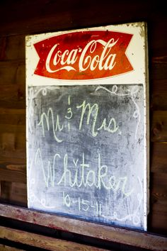 Coca Cola Wedding Sign