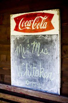 Coca Cola Wedding Sign