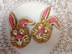 Fresh baked Easter Treats made with yummy CinnaBone & topped with Vanilla Yogurt
