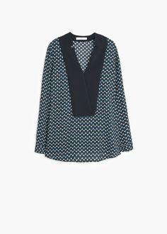 Blusa fluida stampata - Camicie da Donna | MANGO