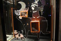 Hermes windows at Bond street, London visual merchandising