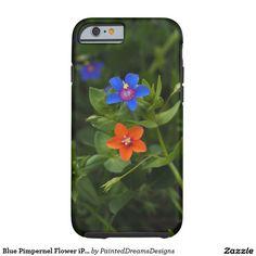 Blue Pimpernel Flower iPhone 6/6s, Tough Tough iPhone 6 Case