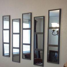 Dollar store mirrors and duck tape. - Crafting DIY Center #DIYHomeDecorDollarStore
