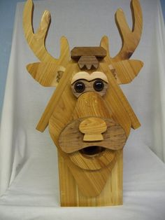 deer birdhouses | Stained....Buck the Deer Birdhouse of Solid Cedar by NWoutdoor, $45.00