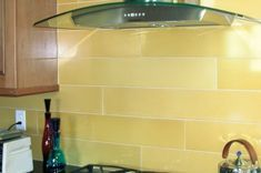 Larger then life subway tiles by kitchen Fireclay Tile - Claymonde Ceramic Sheets Metal Tile Backsplash, Kitchen Backsplash, Backsplash Design, Backsplash Ideas, Tile Ideas, Subway Backsplash, Wall Tile, Modern Large Kitchens, Contemporary Tile