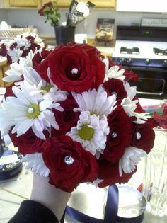 wedding boquet with Rhintestone embellishments