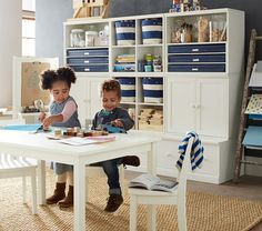 Cameron Creativity Storage System with Drawer Bases #pbkids