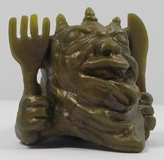 Mini Boglins - The Greedies - Chief Glonk - Gold Childhood Toys, Classic Toys, Lion Sculpture, Statue, Mini, Vintage, Ebay, Sculpture, Sculptures