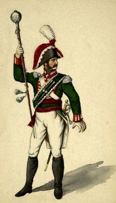 Tamburo maggiore di un rgt. fanteria di linea francese