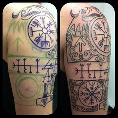From #freehand drawing to completed #outline - #workinprogress #norse #nordictribal #custom #customtattoo #viking #vikingpride #revbeck #trilogytattooco #lynnhaven #freehandtattooing #757 #va #vaink #vabeach | Flickr - Photo Sharing!
