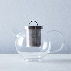 Round Glass Teapot with Steel Filter on Food52