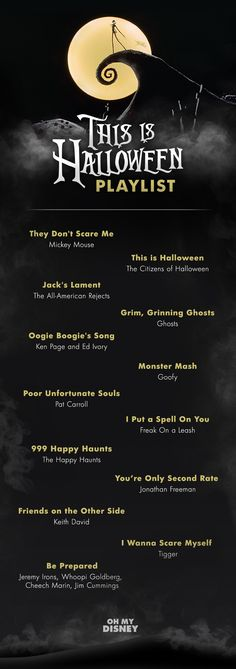 This is Halloween: A Super Spooky Playlist Perfect for All Hallow's Eve The big night is almost here! We've been prepping for Halloween by watching Hocus Pocus, The Nightmare Before Christmas, Halloween Town, and Frankenweenie on repeat, brushing up on ou Halloween Tags, Disney Halloween Costumes, Halloween Birthday, Halloween 2018, Holidays Halloween, Happy Halloween, Disneyland Halloween, Halloween Halloween, Vintage Halloween