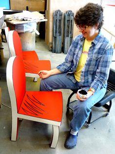 Decoupaged Dr Suess childs chair Aardvark Furniture Suess