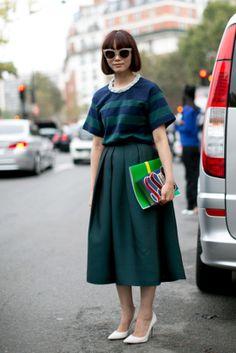 7 ways to wear your midi skirt