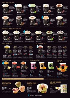 The video consists of 23 Christmas craft ideas. Bubble Tea Menu, Bubble Tea Shop, Bubble Milk Tea, Cafe Menu Design, Food Menu Design, Coffee Shop Menu, Coffee Cafe, Tea Cafe, Tea House Menu