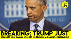 PRESIDENT TRUMP HAS CUT OBAMA OFF AT THE KNEES!! HE WILL GET HIS $600,000.00 A YEAR RETIREMENT... BUT NOT TILL HE IS OF RETIREMENT AGE!!! OBAMA AND HIS FAMILY HAVE MADE 10 TIMES THE MONEY OF ANY OTHER PRESIDENT!!!