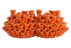 """12"""" Cassidy Vase, Orange on OneKingsLane.com"""