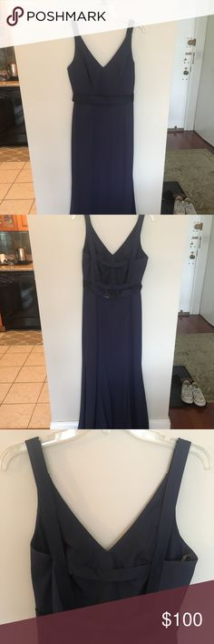 """Vera Wang for David's Bridal size 6 BMaids Dress Worn only once in excellent condition! I am 5'7"""" and had it hemmed just slightly, but the flow of the train is intact. No other alternations to body of dress. White by Vera Wang Dresses Wedding"""