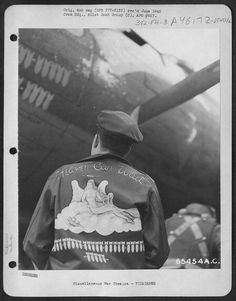 vintage bomber jacket ilustration, 1945 - WWII