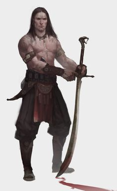 male warrior / fighter / barbarian with huge sword, tattoos DnD character / NPC inspiration character concept portrait Dark Fantasy, Fantasy Male, Fantasy Armor, Medieval Fantasy, Fantasy Character Design, Character Concept, Character Art, Fantasy Inspiration, Character Inspiration