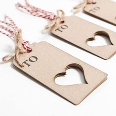 Lasercut Love Hearts Gift Tags by sophiavictoriajoy on Etsy, £2.95