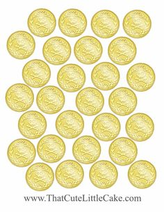 Jake and the Neverland Pirates Golden Doubloons from That Cute Little Cake   Scribd