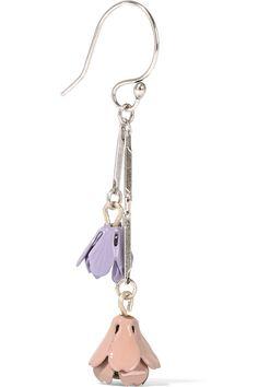 Etro | Silver-plated enamel earrings | NET-A-PORTER.COM