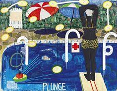 Kerry James Marshall, Plunge, (1992). Courtesy of artnet.