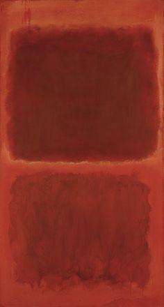 """№ 44,"" 1955, Mark Rothko. Oil on canvas; 81.5 × 43 in."