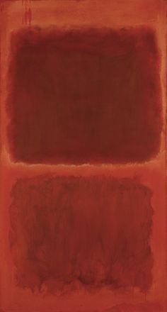 """№ 44,"" 1955, Mark Rothko. Oil on canvas; 81.5 × 43 in."