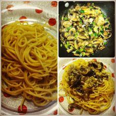 Para cenar spaghetti con salsa de hongos Pasta, Spaghetti, Ethnic Recipes, Food, Sauces, Dinners, Essen, Meals, Yemek