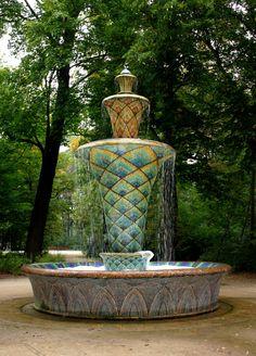 Sachsen, Stadtpark, Denkmal, Schloss,Dresden, Park, Barock, Garten, Brunnen, Gold, Mosaik, Wasser Springbrunnen