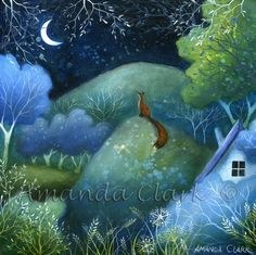 One Summer Evening  -  Amanda Clark- art gallery, original paintings