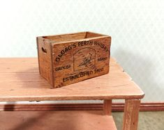 """Dollhouse Miniature Handcrafted wood open store counter 6 1//2/"""" L Ready to finish"""