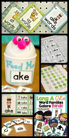 Differentiated, engaging word work activities for CVCe words.