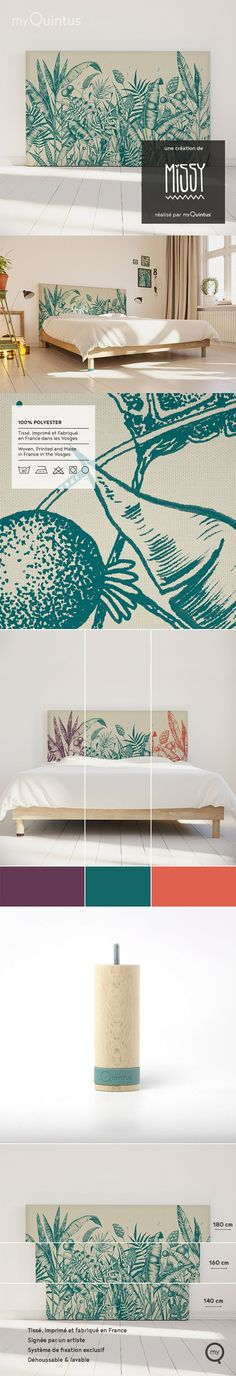 Make your bedroom more unique with MyQuintus headboards and footboards. Turn your headboard into an Headboard Cover, Headboard And Footboard, Bedroom Headboards, Objet D'art, Art Object, Diy And Crafts, Sweet Home, Tropical, Thankful