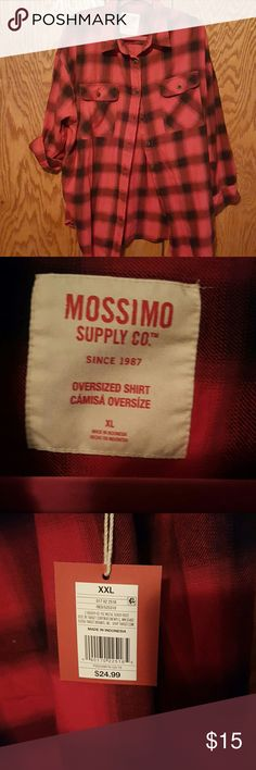 New flannel Got it for Christmas it's an awesome it still has the tags attached is shirts size extra large but the tag says XXL if I would go with probably an extra large and it's a nice shirt brand new never been worn Mossimo Supply Co Shirts