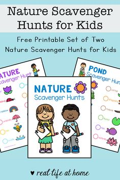 Enjoy some time outdoors with your kids or students during the spring and summer with this set of two nature scavenger hunt printables. Hands On Activities, Kindergarten Activities, Science Activities, Nature Activities, Camping Activities, Outdoor Activities, School Scavenger Hunt, Nature Scavenger Hunts, Outdoor Fun For Kids