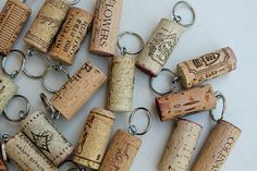 Wine Cork Key Rings  25 Cork Party Favors  by TheWoodenBee on Etsy