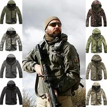 V 4.0 Men's Winter Windproof Jacket Outdoor Camping Hiking Coats Tactical Hunting Soft Shell Hoodie Warmer Jacket
