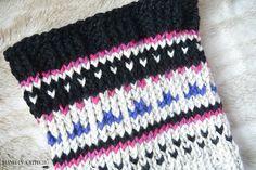 Fair Isle Knit Cowl Close Up