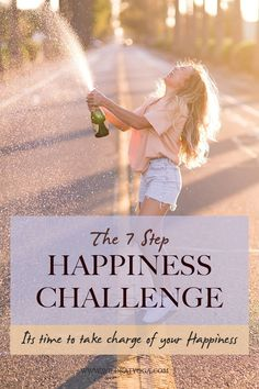 Take charge of your own happiness with this 7 step happiness challenge - a mental health check in that offers you small changes you make today to boost your happiness and live a more joyful life! #happinesschallenge #happiness #mentalhealthcheckin