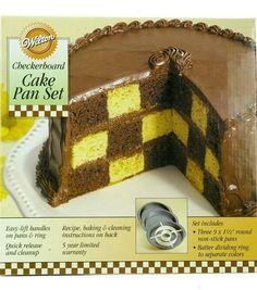 Wilton Checkerboard Cake Set, - pretty cool!