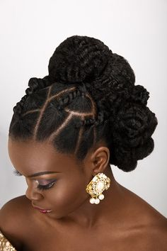 """""""You can work with what you got or add a little something to pump it up!"""" - Dionne International award winning bridal hair specialist, Dionne Smith just - BellaNaija Weddings. New Natural Hairstyles, Natural Hair Updo, Natural Hair Care, Natural Hair Styles, Simple Hairstyles, African Hairstyles, Girl Hairstyles, Braided Hairstyles, Black Hair Updo Hairstyles"""