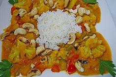 Cashew - Gemüse - Indisch, ein gutes Rezept aus der Kategorie Gemüse. Bewertungen: 86. Durchschnitt: Ø 4,2.